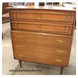 Mid Century Modern Danish Walnut High Chest and Low Chest  Auction Estimate $300-$600 – Located Ins