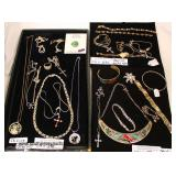 Selection of Sterling Jewelry including: Bracelets, Necklaces, Rings and Earrings  Auction Estimate