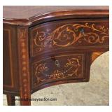 ANTIQUE Kidney Shape Mahogany Inlaid Writing Desk  Auction Estimate $200-$400 – Located Inside