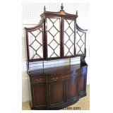 Burl Mahogany 2 Piece Edwardian Style Buffet China  Auction Estimate $300-$600 – Located Inside