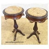 PAIR of French Style Marble Top Candle Stands with Applied Bronze  Auction Estimate $100-$200 – Loc