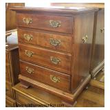SOLID Mahogany 4 Drawer Bracket Foot Bedside Stand in the Manner of Henkel Harris Furniture  Auctio
