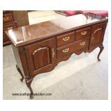 "SOLID Cherry ""Thomasville Furniture"" Queen Anne Buffet  Auction Estimate $100-$300 – Located Inside"