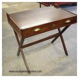 "Contemporary ""NWTF Conserve Hunt Share"" ""X"" Frame 2 Drawer Mahogany Desk  Auction Estimate $100-$30"