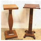 Selection of ANTIQUE Oak Pedestals  Auction Estimate $50-$100 each – Located Inside