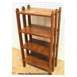 ANTIQUE Arts and Craft Style Open Bookshelf  Auction Estimate $100-$200 – Located Inside