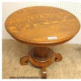 ANTIQUE Quartersawn Oak Empire Center Table  Auction Estimate $100-$200 – Located Inside