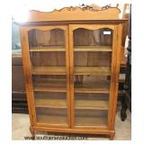 ANTIQUE Oak 2 Door Bookcase  Auction Estimate $200-$400 – Located Inside