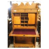 "ANTIQUE Oak ""Courtland"" Desk with Nice Fitted Interior  Auction Estimate $200-$400 – Located Inside"