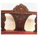 ANTIQUE Highly Carved Mahogany Settee  Auction Estimate $100-$300 – Located Inside