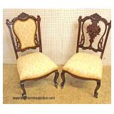 PAIR of ANTIQUE Mahogany Music Chairs  Auction Estimate $100-$200 – Located Inside