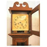 "ANTIQUE ""ITHACA"" American Oak Grandfather Clock  Auction Estimate $300-$600 – Located Inside"