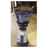 ANTIQUE 2 Piece Jardinière Pedestal  Auction Estimate $200-$400 – Located Glassware