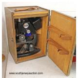 VINTAGE Microscope in Box  Auction Estimate $50-$150 – Located Inside