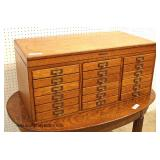 ANTIQUE Oak Multi Drawer Top Cabinet  Auction Estimate $300-$600 – Located Inside