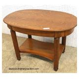 ANTIQUE Oval 1 Drawer Oak Library Table  Auction Estimate $100-$200 – Located Inside