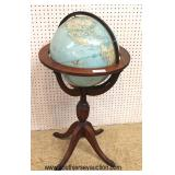 "VINTAGE ""Replogle"" 16"" Reference Globe on Mahogany Stand  Auction Estimate $100-$200 – Located Insi"