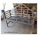 Cast Aluminum Garden Bench  Auction Estimate $100-$200 – Located Inside