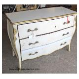 Paint Decorated French Style 3 Drawer Chest with Applied Bronze  Auction Estimate $200-$400 – Locat
