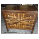 Contemporary Burl Walnut and Inlaid Modern Design Chest  Auction Estimate $200-$400 – Located Insid
