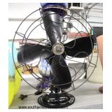 VINTAGE Osculating 4 Blade Fan  Auction Estimate $100-$200 – Located Inside