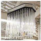 VINTAGE COOL Mid Century Modern Chrome and Lucite Pendant Chandelier  Auction Estimate $200-$400 –