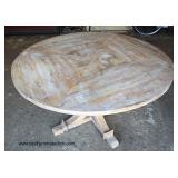 "Rustic 60"" White Washed SOLID Mahogany Breakfast Table  Auction Estimate $200-$400 – Located Inside"