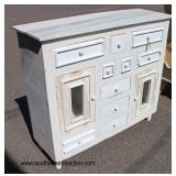 Shabby Chic Buffet with Curio Base  Auction Estimate $200-$400 – Located Inside
