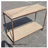 Industrial Style Decorator Sofa Table  Auction Estimate $200-$400 – Located Inside