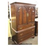"SOLID Cherry ""Ethan Allen Furniture"" High Chest and Low Chest  Auction Estimate $300-$600 – Located"