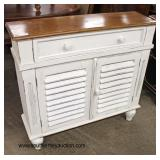 Shabby Chic Louver front Natural Finish Decorator Buffet  Auction Estimate $200-$400 – Located Insi