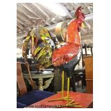 Press Tin Decorator Rooster  Auction Estimate $100-$200 – Located Inside