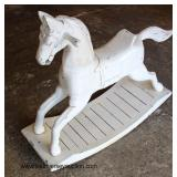 Antique Style Rocking Horse  Auction Estimate $100-$200 – Located Inside
