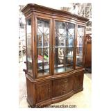 "China Cabinet 9 piece Mahogany banded Dining room set by ""Bob Mackie Home Interior Design"""