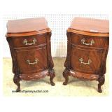 VERY VERY GOOD Condition  One of The Best Burl Mahogany Carved 8 Piece Bedroom Set with Right and L