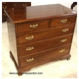 """SOLID Mahogany """"Stickley Furniture"""" 2 over 3 Drawer Bachelor Chest  Auction Estimate $300-$600 – Lo"""