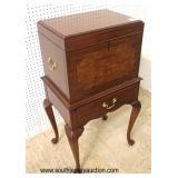 "Burl Mahogany ""Henkel Harris Furniture"" Queen Anne Silver Chest  Auction Estimate $500-$1000 – Loca"