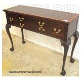 """Pristine Condition """"Stickley Furniture"""" SOLID Mahogany and Banded 4 Drawer Brandy Board  Auction Es"""