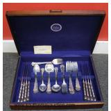"""39 Piece """"Frank M. Whiting"""" Sterling Flatware Set in Wooden Case  Auction Estimate $400-$800 – Loca"""