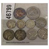 Group Lot of Silver Coins including: Susan B. Anthony, 1962 Quarter, Mercury Dime, 2 Roosevelt Dime