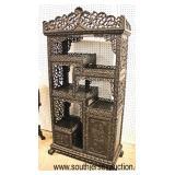 ANTIQUE Highly Carved Asian Hardwood Étagère  Auction Estimate $400-$800 – Located Inside