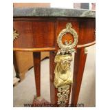Mahogany Marble Top French Style Lamp Table with Applied Bronze  Auction Estimate $100-$300 – Locate