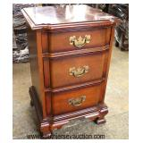 """Selection of """"Kling Furniture"""" SOLID Mahogany Night Stands  Auction Estimate $50-100 each – Located"""