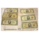 Large Selection of $1, $5, $10 Silver Certificates, Red Certificates, Yellow Seal  Auction Estimate
