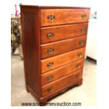 SOLID Cherry Bracket Foot High Chest  Auction Estimate $100-$200 – Located Inside