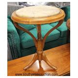 ANTIQUE Marble Top Victorian Candle Stand  Auction Estimate $100-$200 – Located Inside