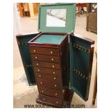 Mahogany Finish Jewelry Chest  Auction Estimate $100-$200 – Located Inside