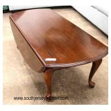 """Selection of """"Ethan Allen Furniture"""" SOLID Cherry Queen Anne Drop Side Tables  Auction Estimate $100"""
