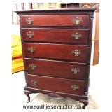SOLID Mahogany Queen Anne High Chest  Auction Estimate $100-$300 – Located Inside