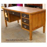 """NEW """"Martin Furniture"""" 7 Drawer Contemporary Country Rustic Style Executor Desk with Tag  Auction Es"""